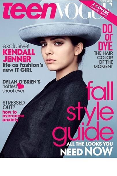 Kendall Jenner on Teen Vogue