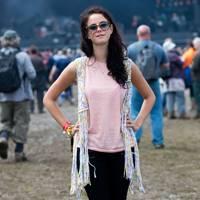 Kaya Scodelario at the Isle Of Wight Festival