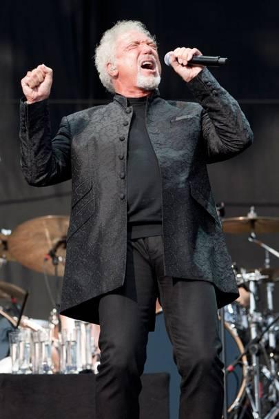 Tom Jones performs at Virgin Media V Festival 2012