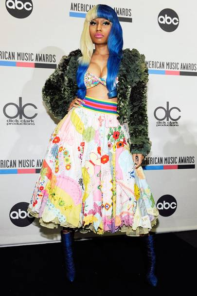 DON'T #4: Nicki Minaj at the American Music Award 2011 Nominations, October