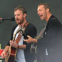Caleb Followill & Chris Martin at Radio 1's Big Weekend