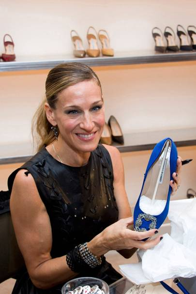 Carrie Bradshaw's wedding slippers