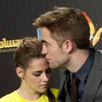 Kristen Stewart and Robert Pattinson at the Spanish premiere of Breaking Dawn 2