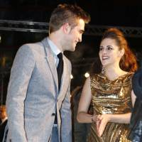 Robert Pattinson and Kristen Stewart at the Berlin premiere