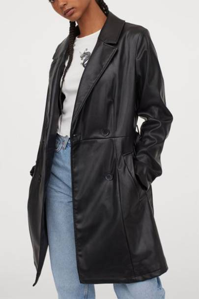 Leather coats: the imitation trench