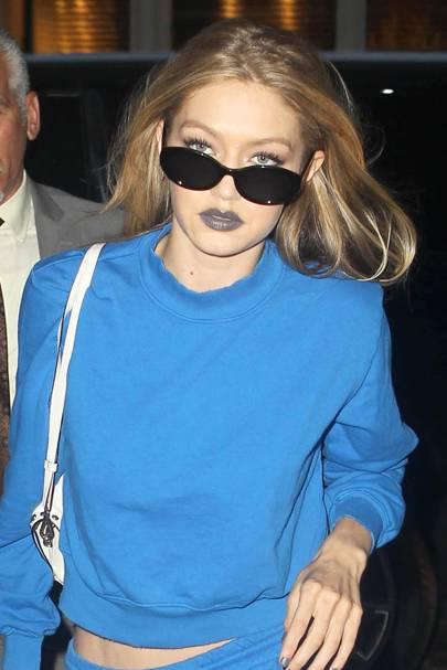 Gigi Hadid tries to make grey lipstick a thing and, yep, NAILED IT.