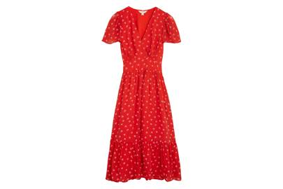 M&S x GHOST JUNE COLLECTION Printed Red Dress