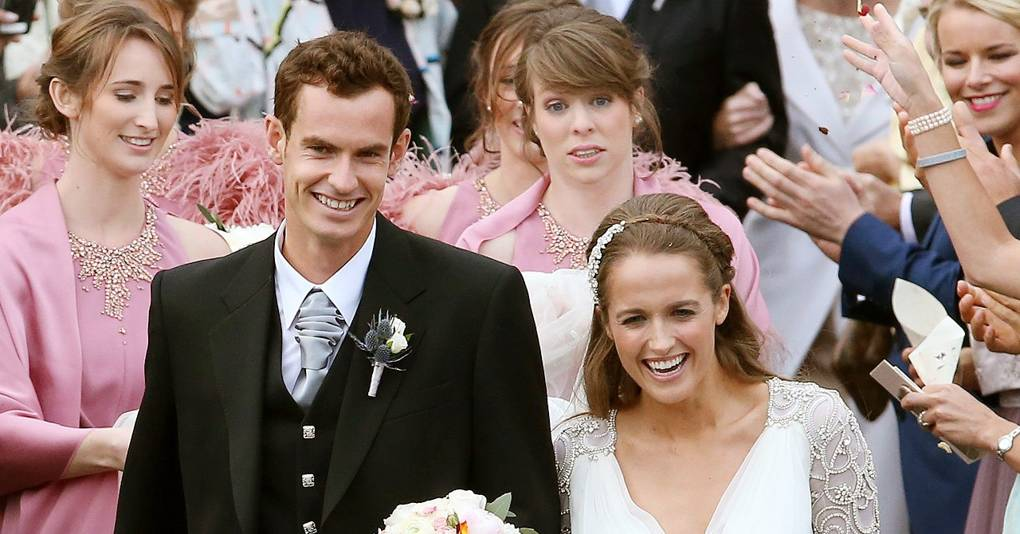 Andy Murray Wedding Pictures Kim Sears Wedding Dress Pictures Glamour Uk