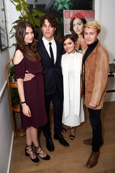 Behind The Scenes At Glamour S Dinner With Jenna Coleman