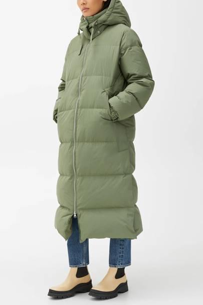 Arket Puffa Coat: Green