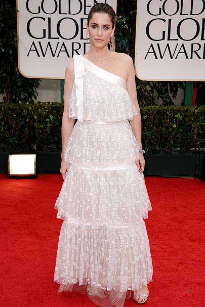 Amanda Peet at the Golden Globes 2012