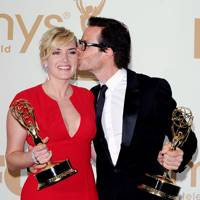 Kate Winslet and Guy Pearce at the Emmys 2011