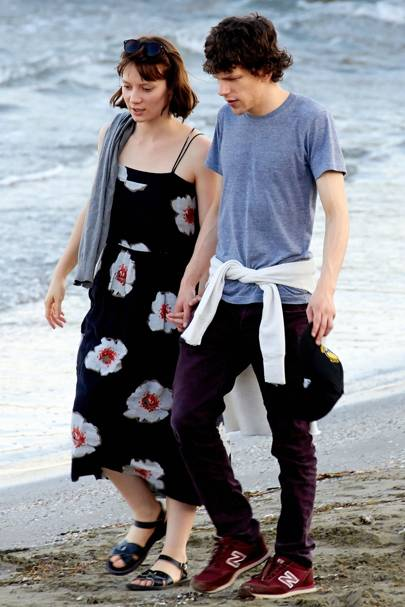 June: Jesse Eisenberg & Mia Wasikowska