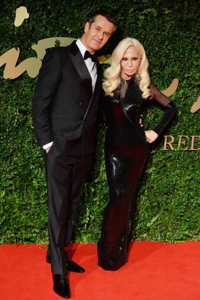 Donatella Versace & Rupert Everett