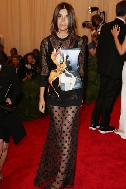Carine Roitfeld at the Met Gala