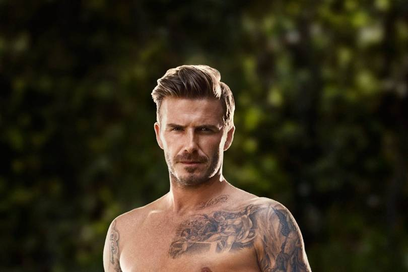 David beckham shows off toned torso in new hm campaign