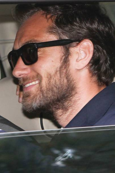 Jude Law arrives at the wedding of Kate Moss and Jamie Hince