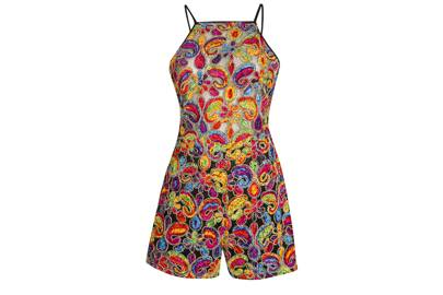 THE PAISLEY-PRINT PLAYSUIT