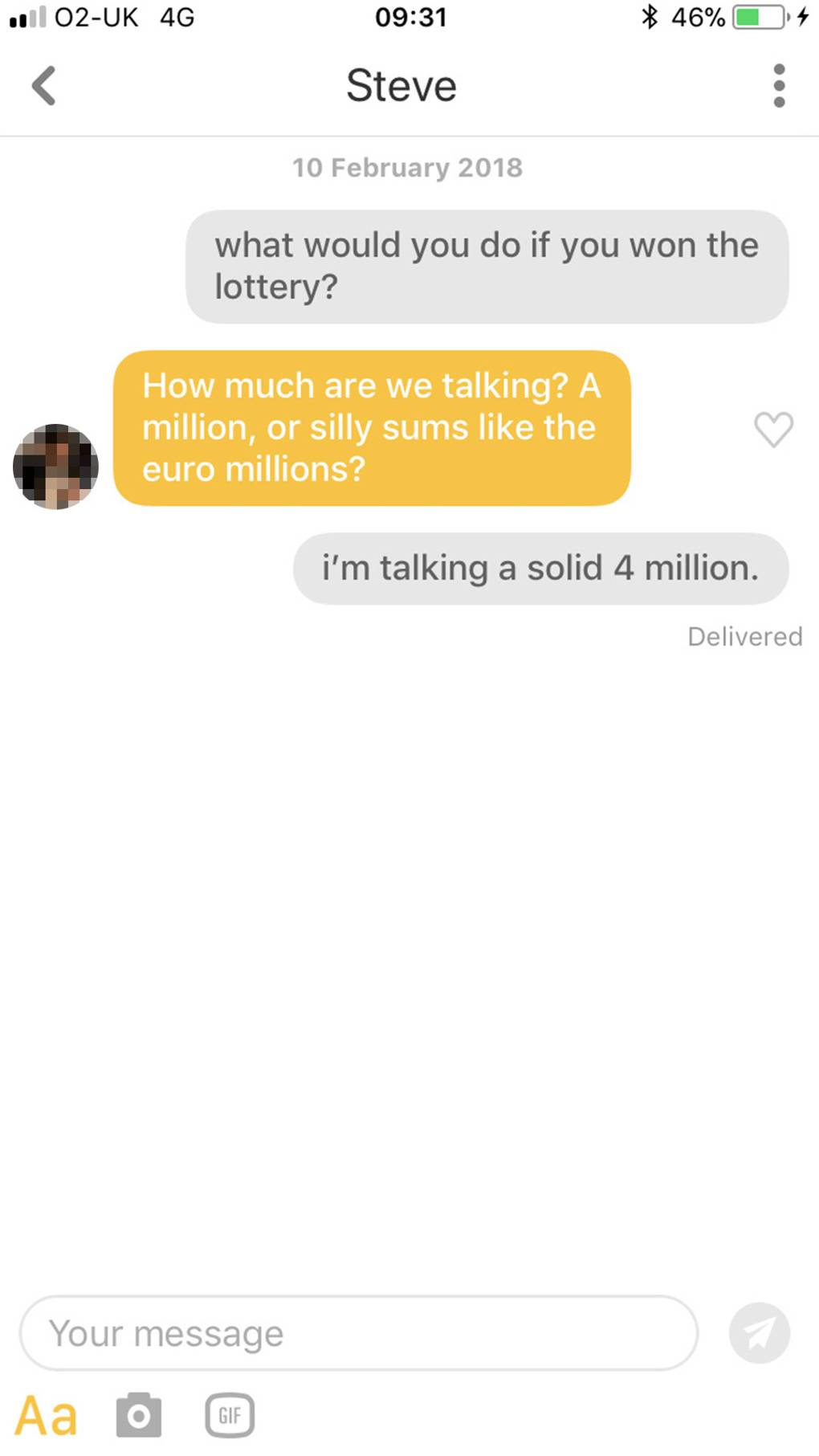 bumble pick up lines