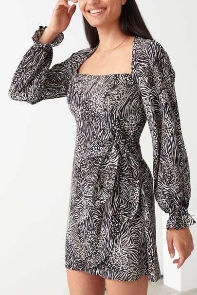 Best animal print dress on sale