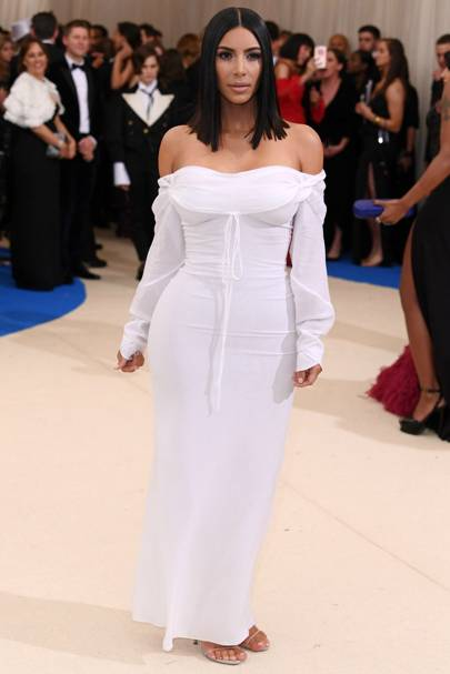 Kim went sans diamonds