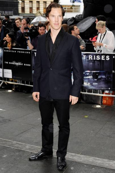 Benedict Cumberbatch at The Dark Knight rises premiere