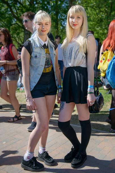 Chloe Thacker and Josie Wells, Students, Slam Dunk Festival 2012