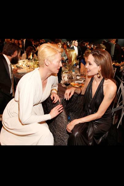 Tilda Swinton and Angelina Jolie at the SAGs 2012
