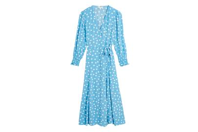 M&S x GHOST JUNE COLLECTIONBlue Polka Dot Dress