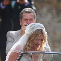 Newly wed Kate Moss heads to her reception