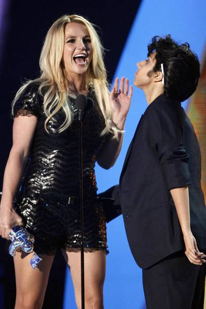 Britney Spears and Lady Gaga at the MTV VMAs 2011
