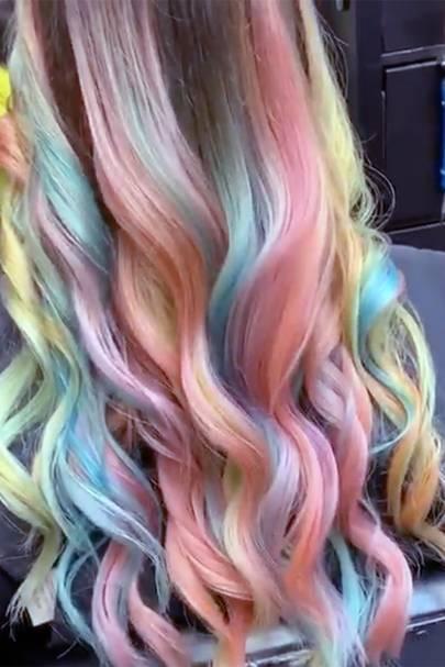Rainbow-Drip hair