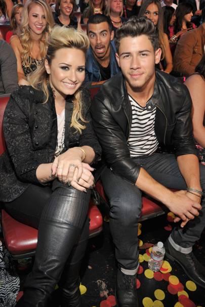 Joe Jonas, Demi Lovato & Nick Jonas