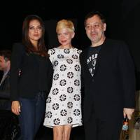 Mila Kunis, Michelle Williams and Sam Raimi at Comic-Con 2012