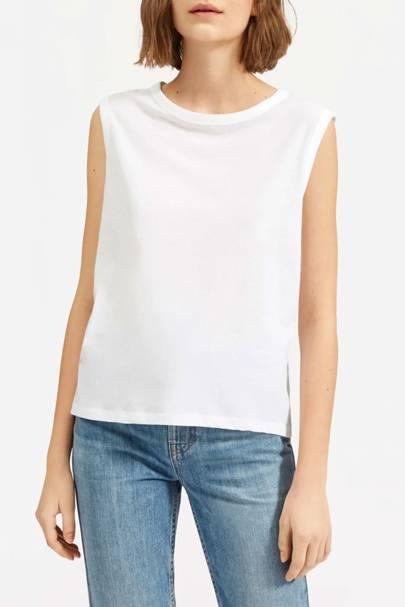 Best white t-shirt women: the white tank top
