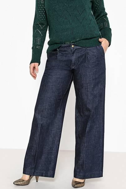 Best Jeans For Curvy Women: Wide-Leg Jeans