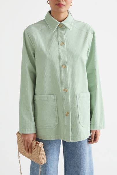 Best Shackets For Spring - Mint Corduroy