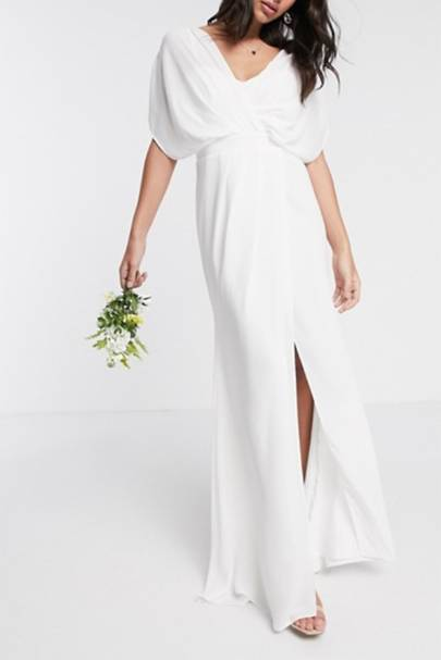 Best ASOS wedding dress with cowl detailing