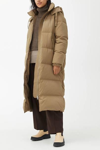 Arket Puffa Coat: Beige