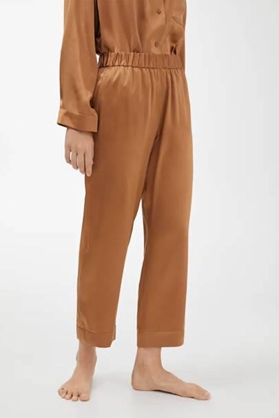 The silk pyjama bottoms
