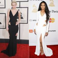 Cut-out gown: Miley or Ciara?