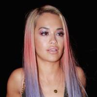 Rita Ora's rainbow hair