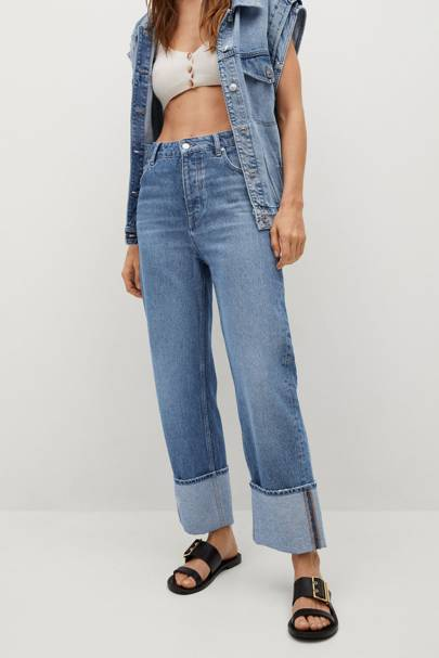 Mango Sustainable Denim Collection: the straight leg jeans