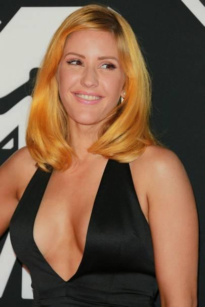 So, Ellie Goulding has ORANGE hair now
