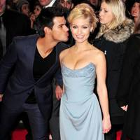 Taylor Lautner & MyAnna Buring at the UK Premiere of Breaking Dawn 2