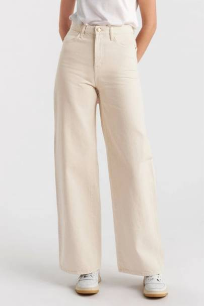 SUSTAINABLE DENIM 2021 - WIDE-LEG HIGH-WAISTED JEANS