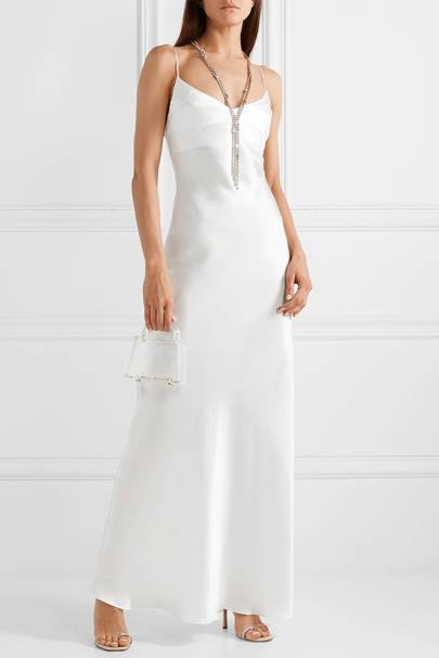 Best White Bridesmaid Dresses - Bias Cut
