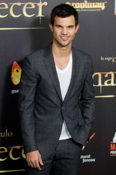 Taylor Lautner at the Spanish premiere of Breaking Dawn 2