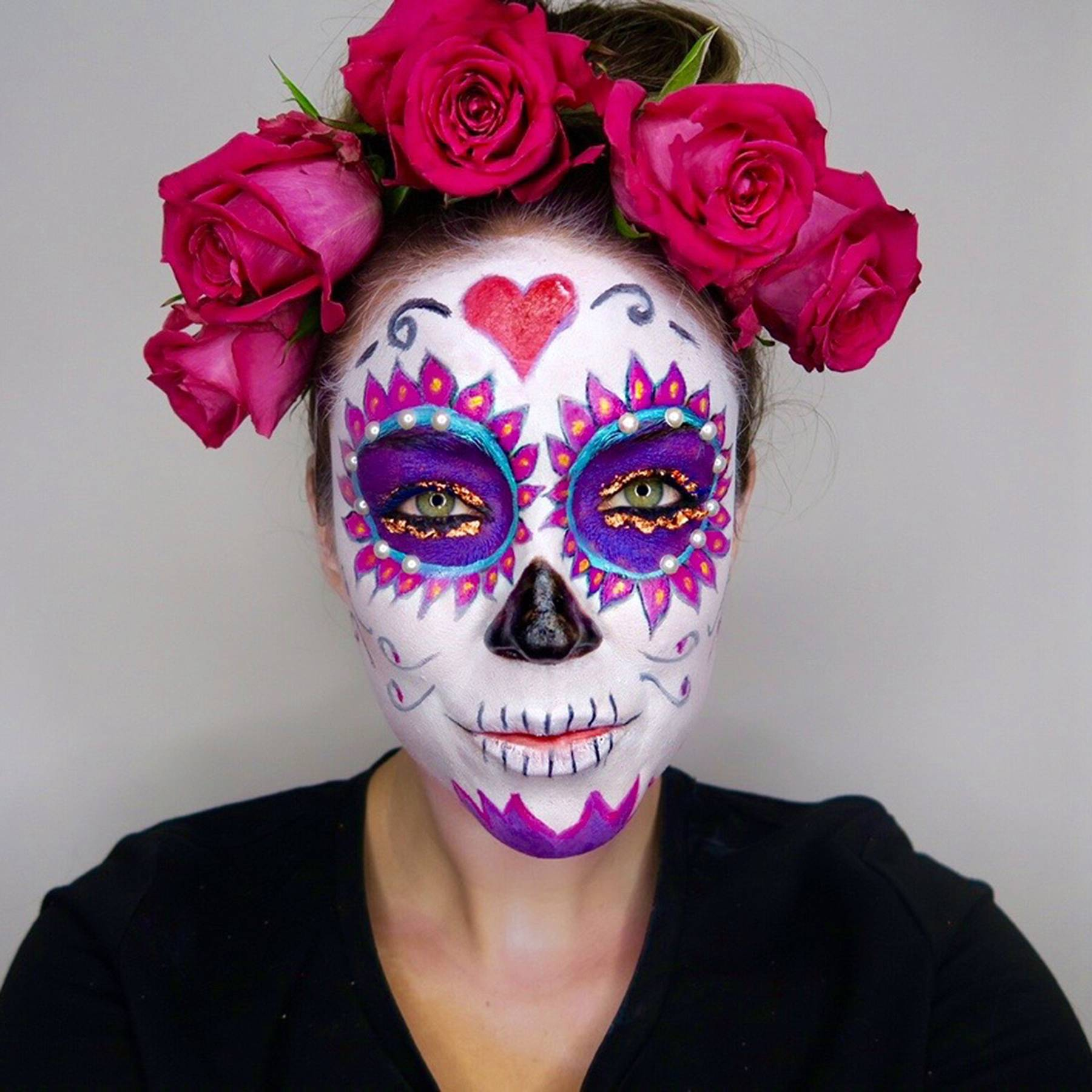 Day of the dead makeup sugarskulls tutorial how to glamour uk baditri Image collections