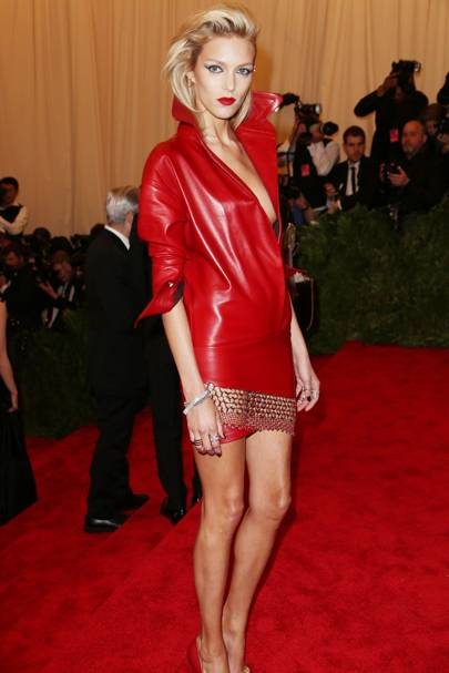 Anja Rubik at the Met Gala